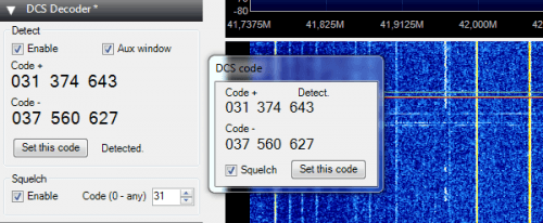 Digital Code Squelch (DCS) Decoder Plugin for SDR#
