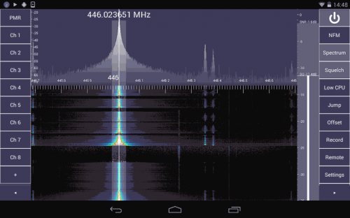 SDR Touch Android GUI for RTL-SDR