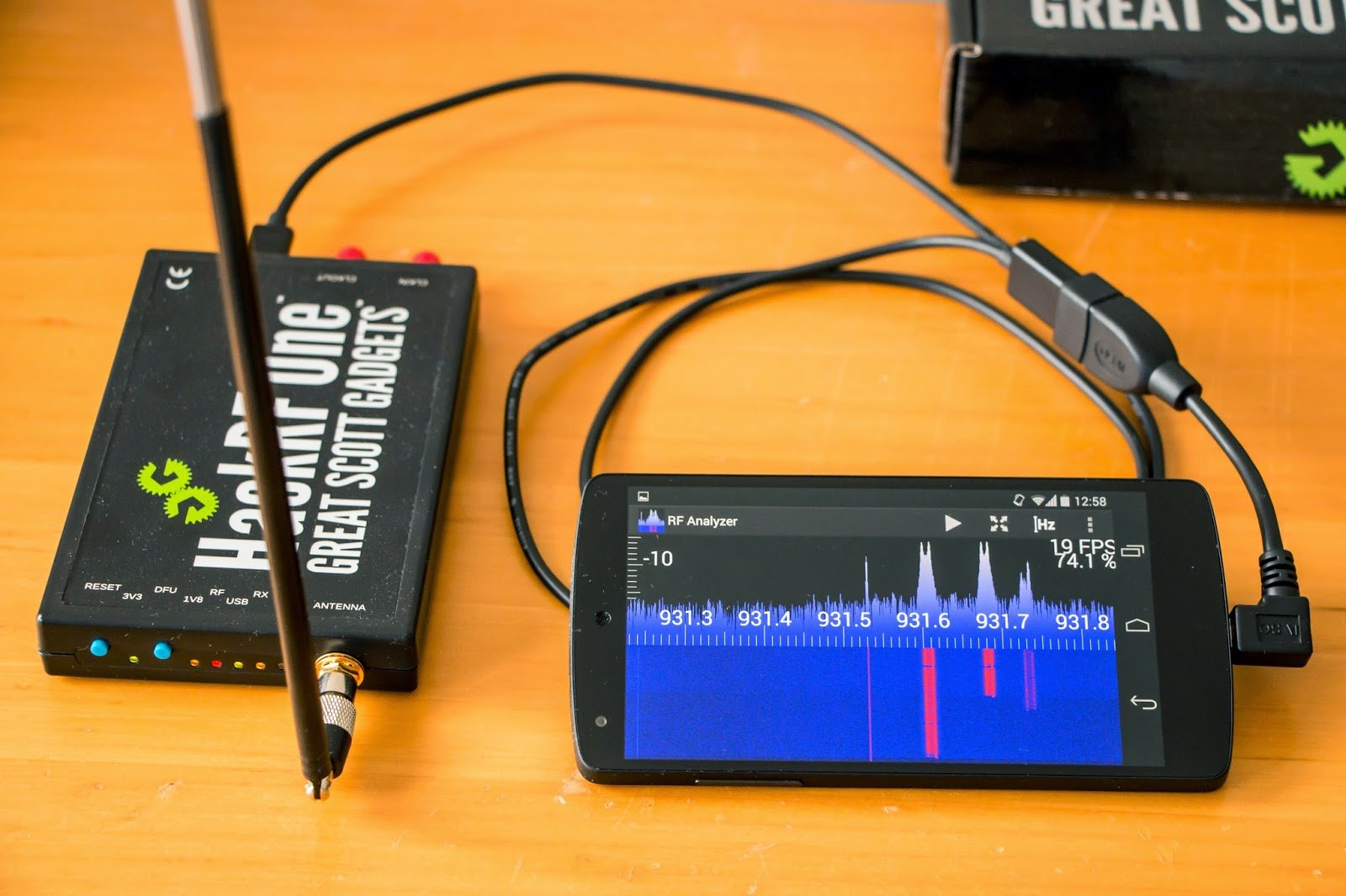 Rf Analyzer Android App For The Hackrf Rtl Sdr Com