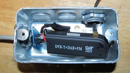 RTL-SDR in a Metal Outlet Box