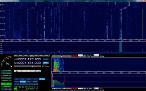 Modded reception at 7 MHz