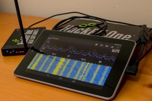 RF Analyzer Android App for the HackRF and RTL-SDR