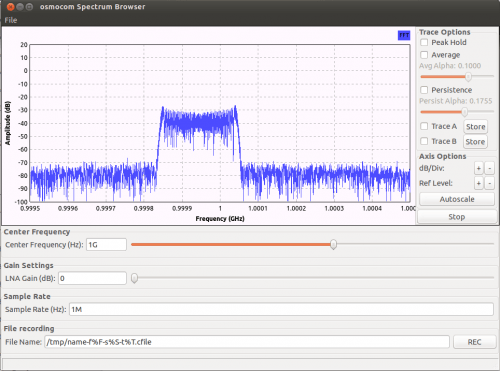 Using an RTL-SDR as a spectrum analyzer with osmocom_fft