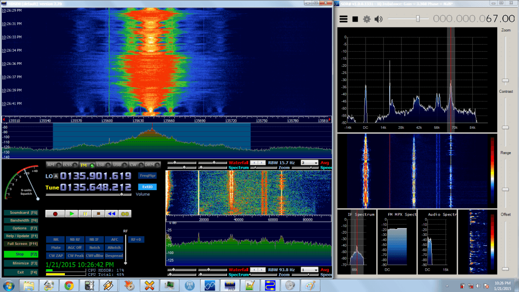 SCA audio received via a combination of HDSDR and SDR#