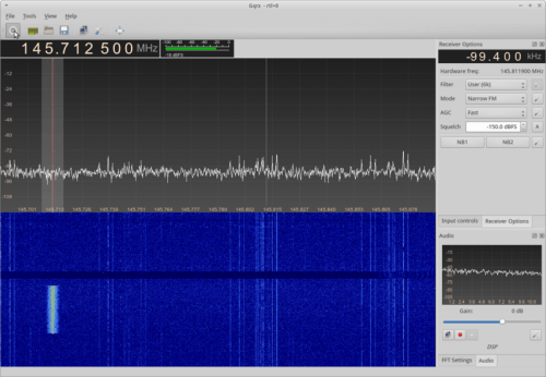 GQRX Receiving D-STAR