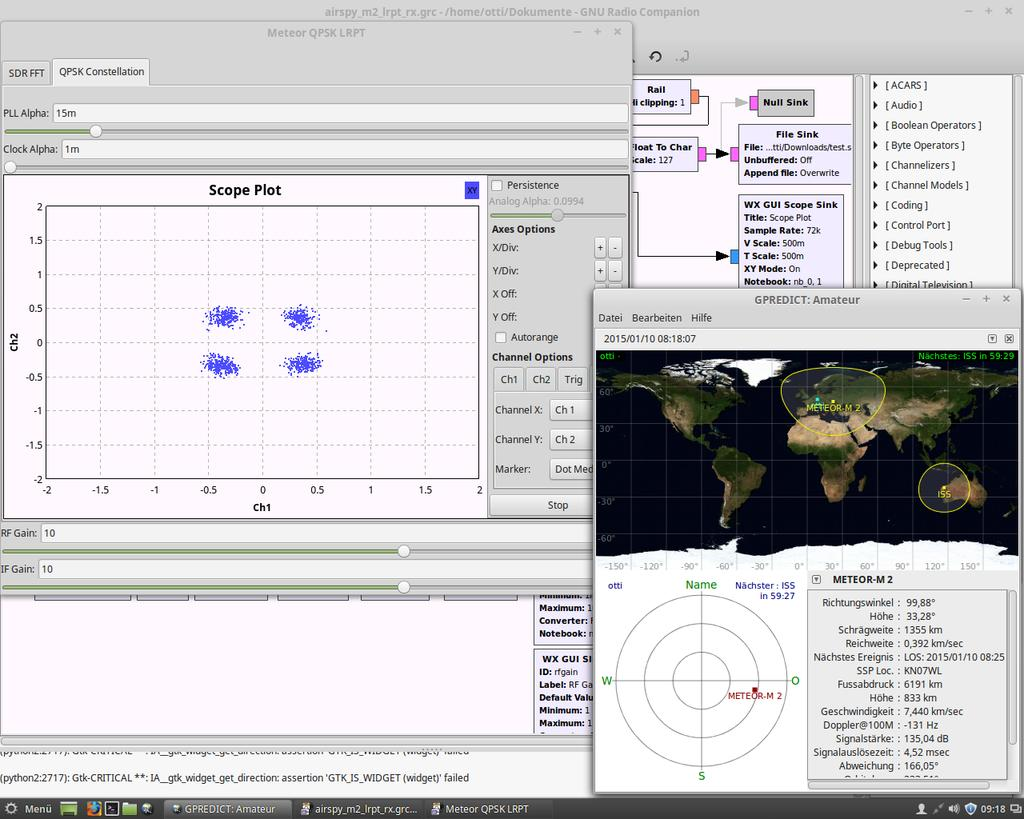 Airspy GNU Radio Script for Receiving LRPT Meteor-M2 Weather