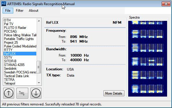 ARTEMIS: Free Signal Identification Software