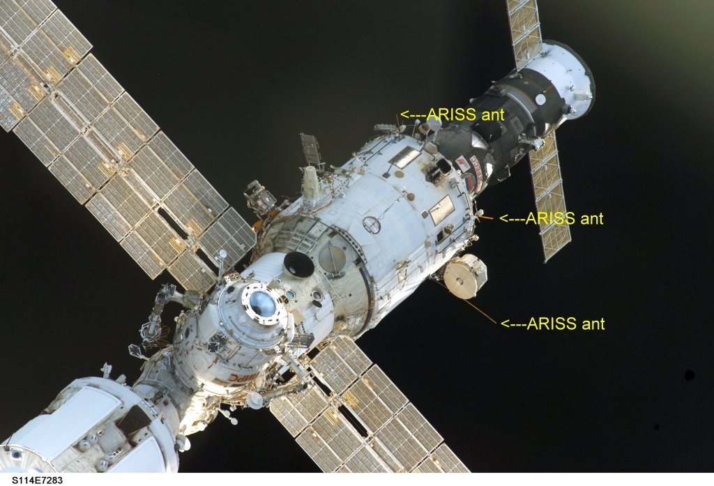 The International Space Station is Transmitting SSTV Images