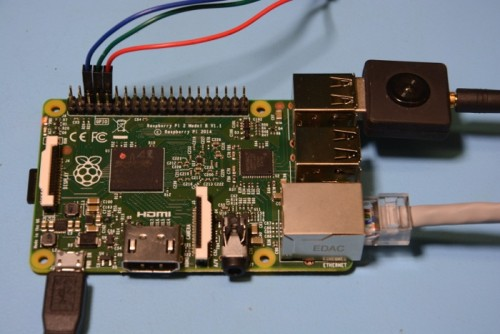 Raspberry Pi 2 with an RTL-SDR Dongle Attached