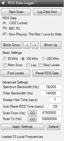 RDS Data Logger SDR# Plugin