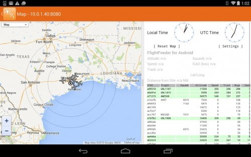 Application FlightAware ADS-B