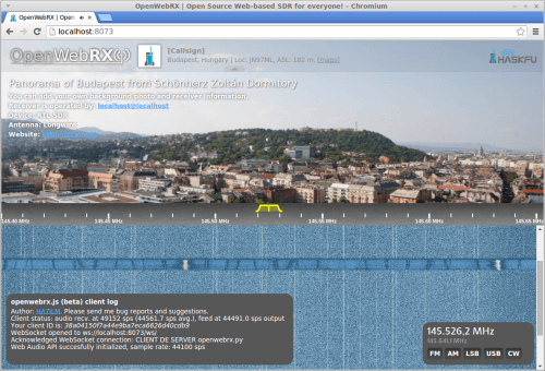 OpenWebRX Web Interface.