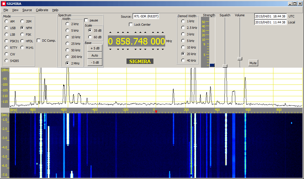 Sigimira Decoder now supports the RTL-SDR Directly