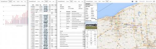 Screenshot of the ModeSMixer2 web based GUI.