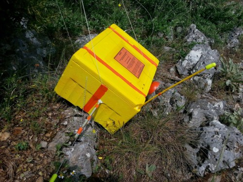 The high altitude balloon's radio payload recovered after landing.