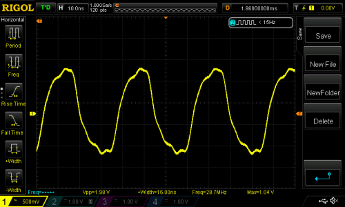 Closer to a sine wave after filtering.