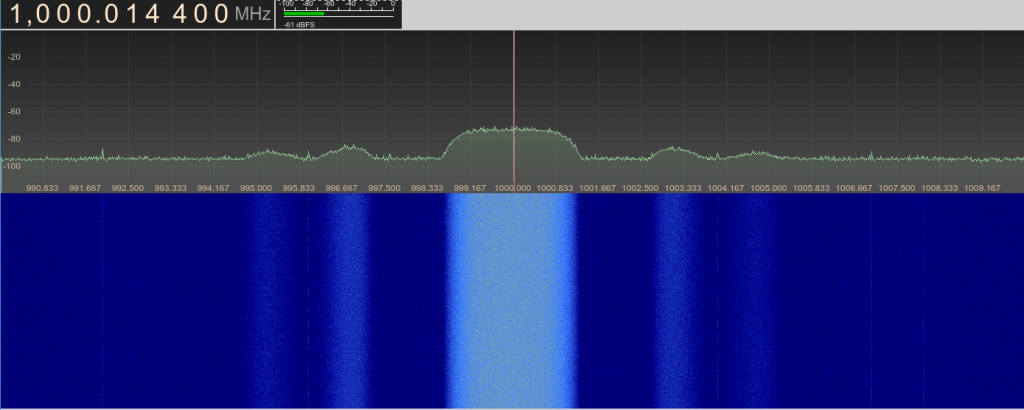 What the DVB-S output signal looks like on another HackRF.