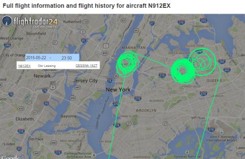 Possible FBI Surviellance Aircraft Path from flightradar24.com