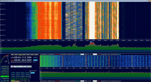 The HackRF running in HDSDR.