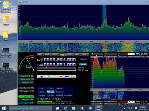 HDSDR Running on Windows 10