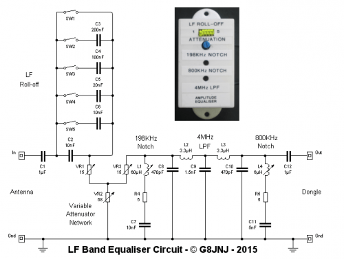 G8JNJ's LF Band Equalizer Circuit