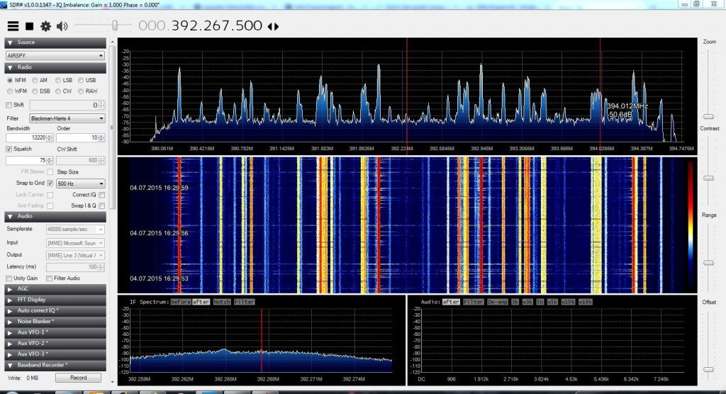 The Airspy receiving TETRA