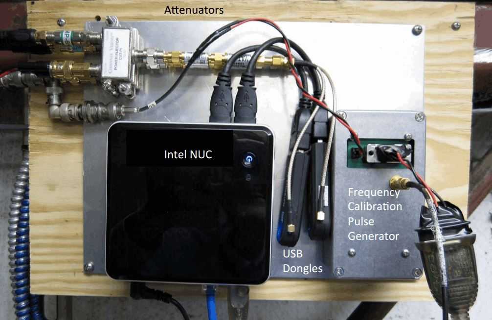 Photo of some of the components of the ozone spectrometer.