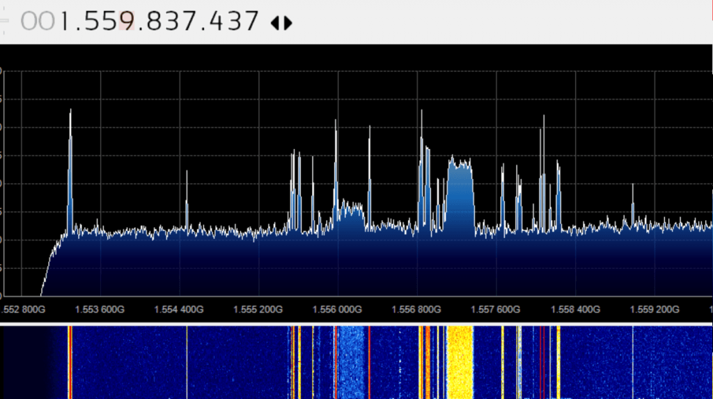 SDRplay reception of L-band satellite signals with no external LNA.
