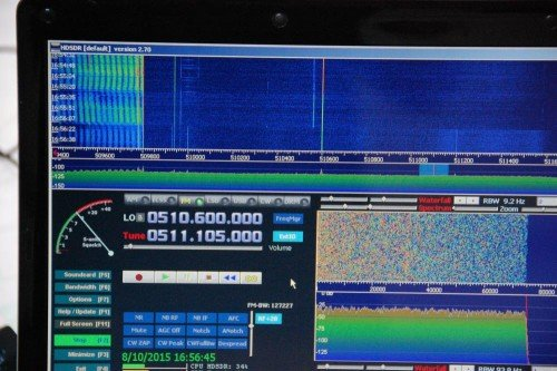 Initial reception of the DVB-T signal with the stock antenna and no modifications.