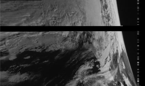 Recent images received from the resurrected Meteor M-N1 weather satellite.