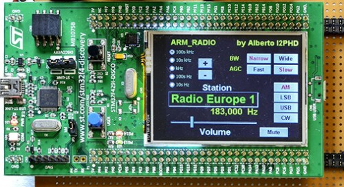 ARM Radio and its GUI interface.