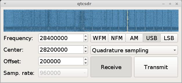 QTCSDR Control GUI