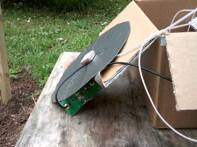 Jonti's modified GPS antenna for receiving AERO