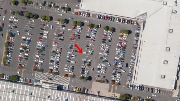 The location in the carpark of the deadzone.