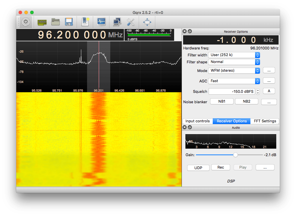 GQRX running on El Capitan OSX
