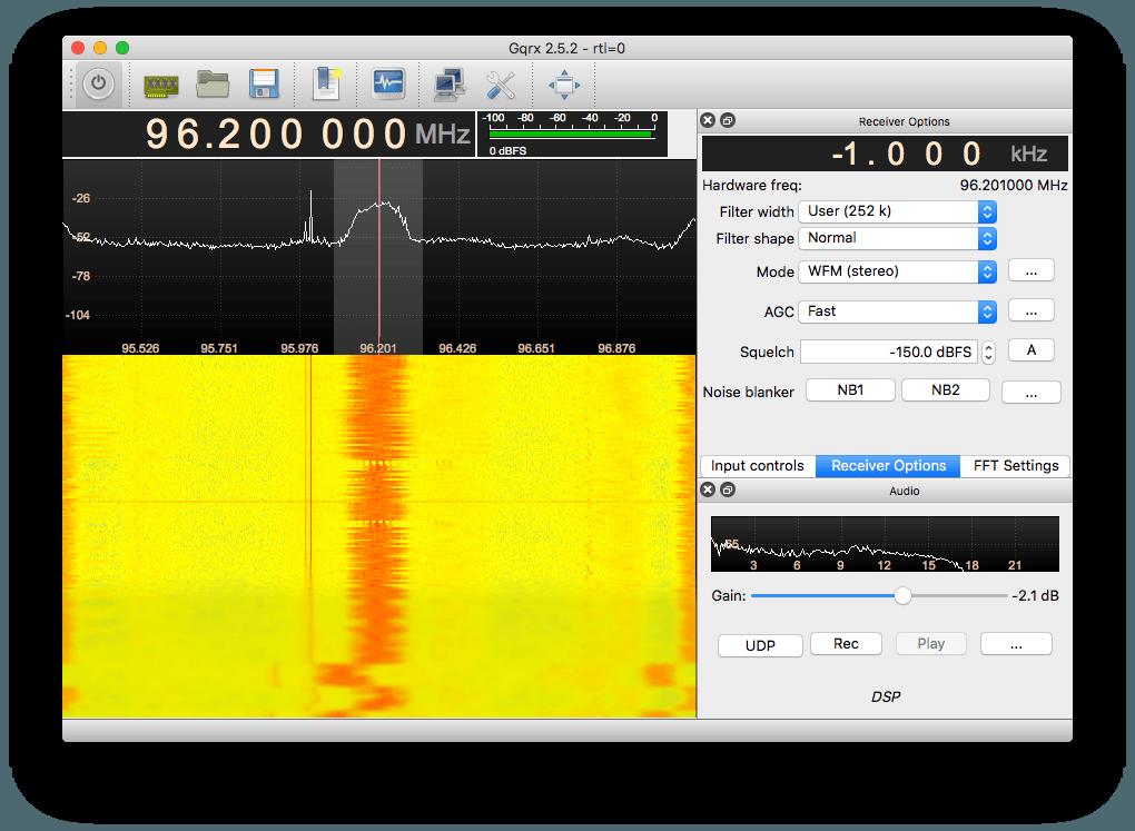 GQRX running on El Capitan OSX