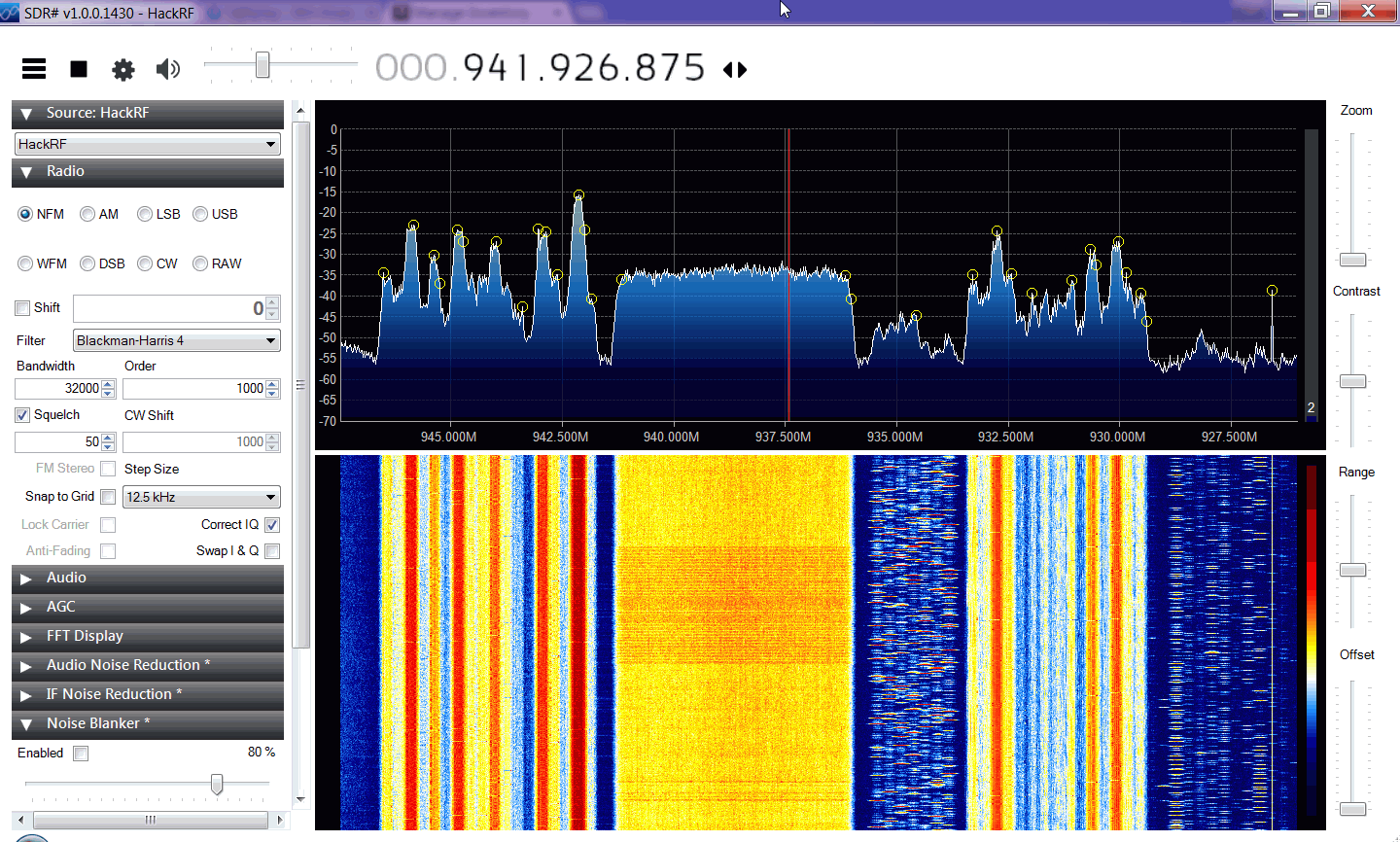 HackRF Receiving the GSM Band