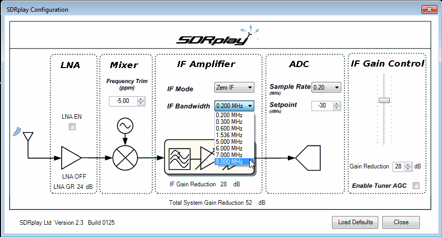 SDRplay Controls
