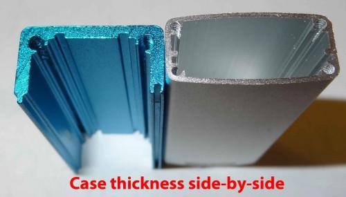 Case thickness comparison.