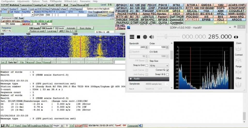 DGPS received with a HackRF