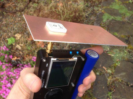 Iridium Antenna + HackRF Portapack.