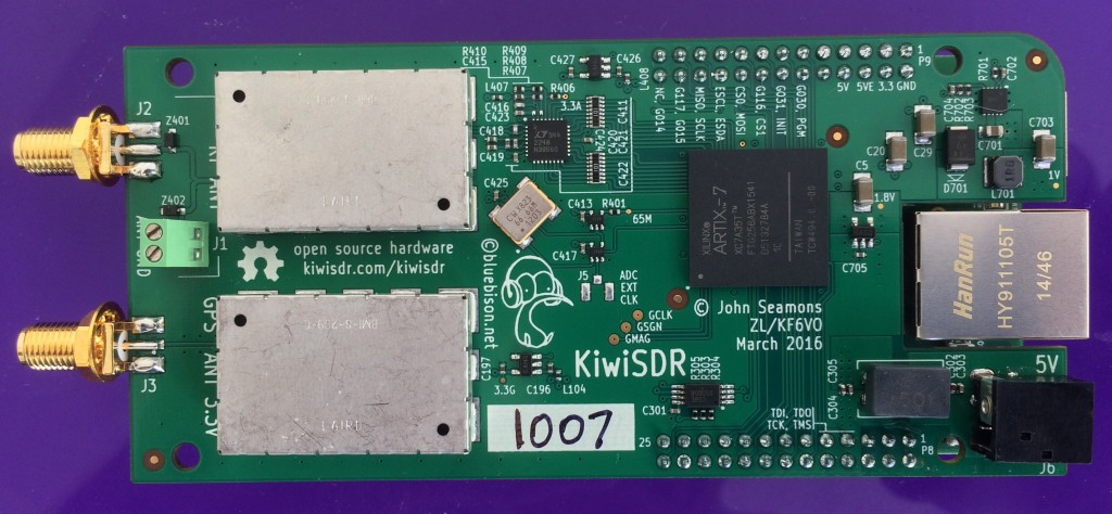 The latest KiwiSDR Board