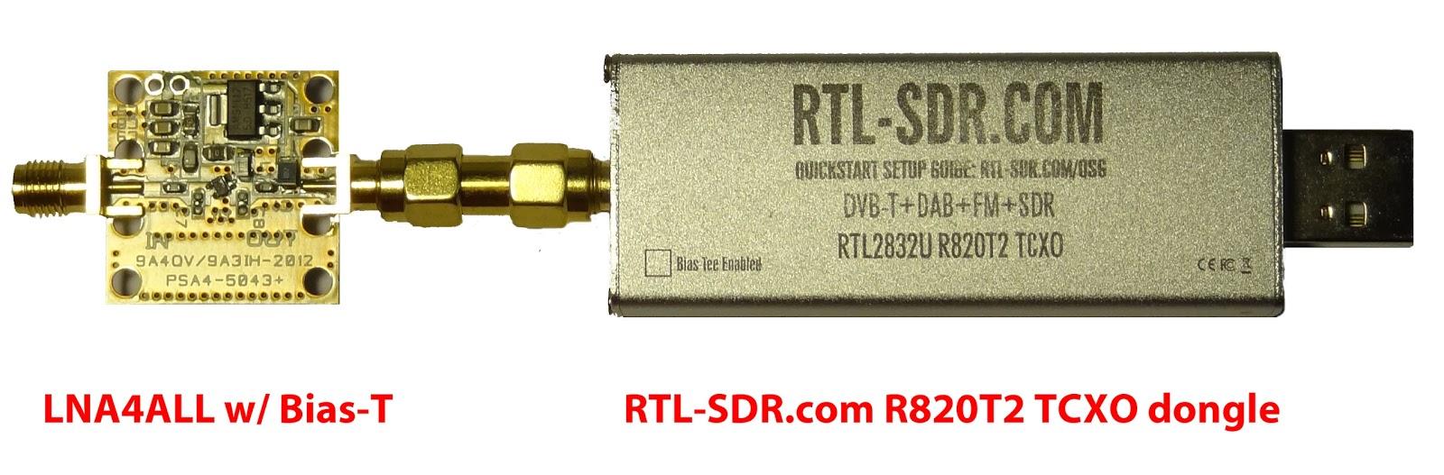 RTL-SDR.com dongle + an LNA4ALL