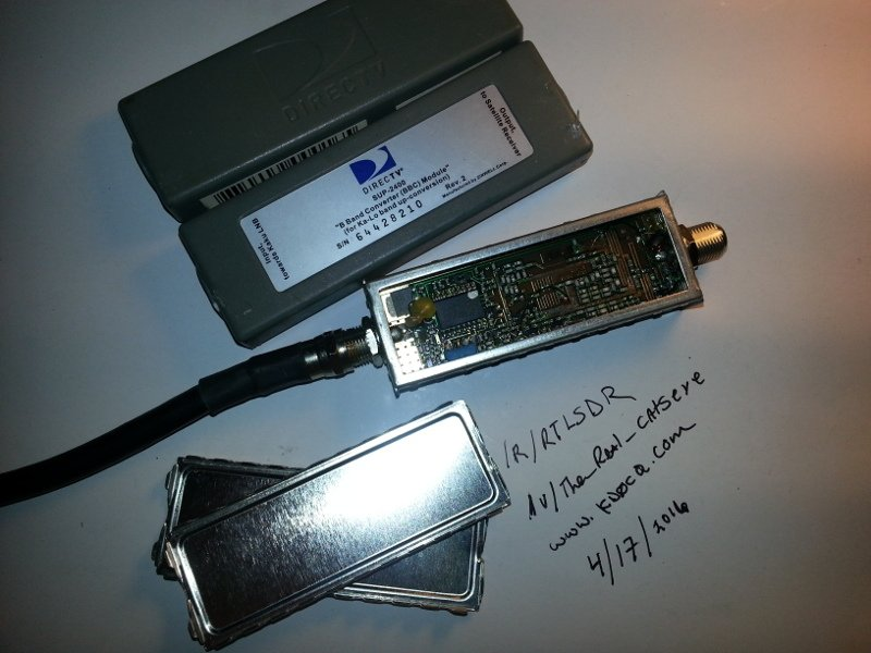 The SUP-2400 Directv upconverter that can be converted into a downconverter.