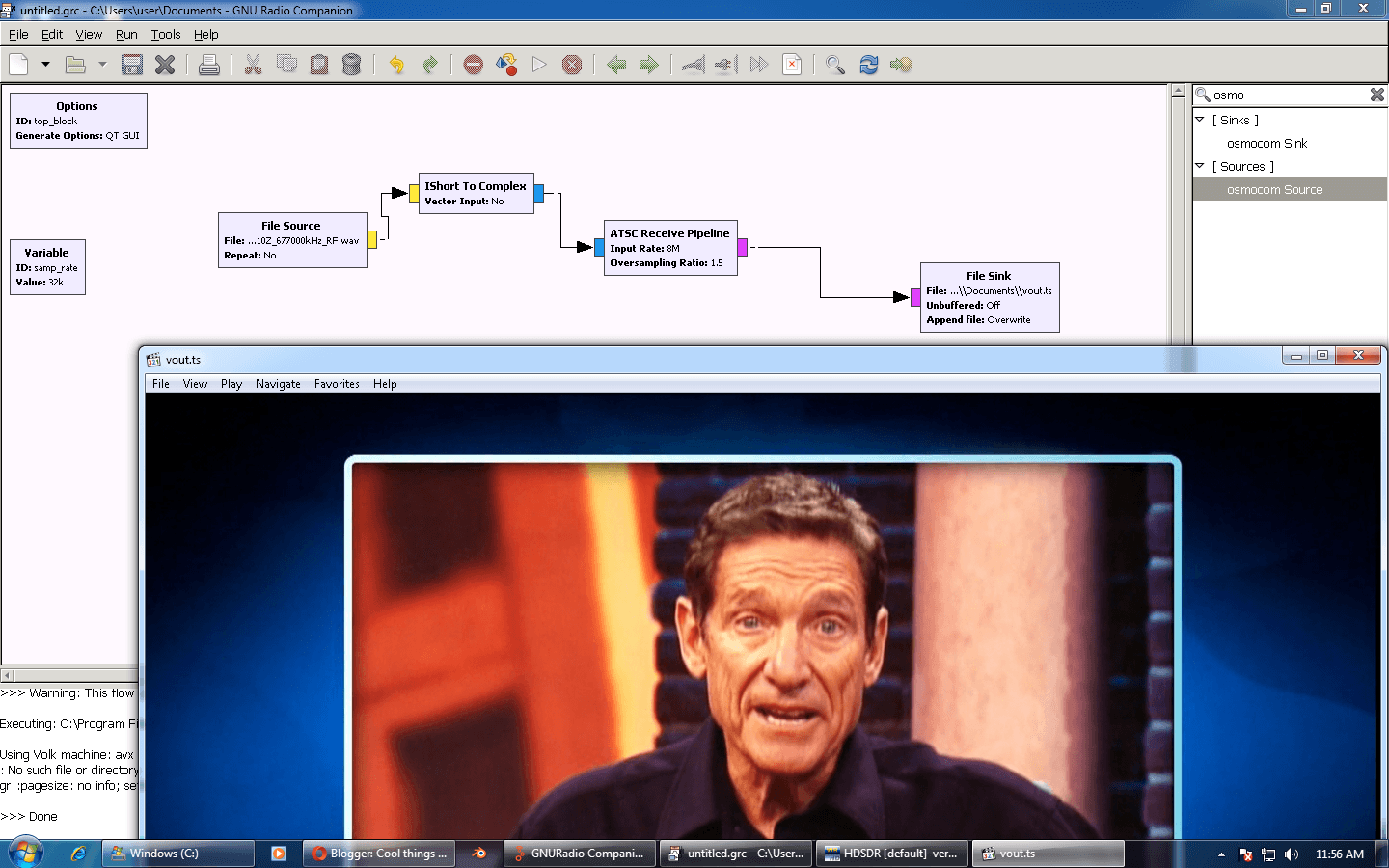 GNU Radio for Windows + Decoding ATSC HDTV on GNU Radio for
