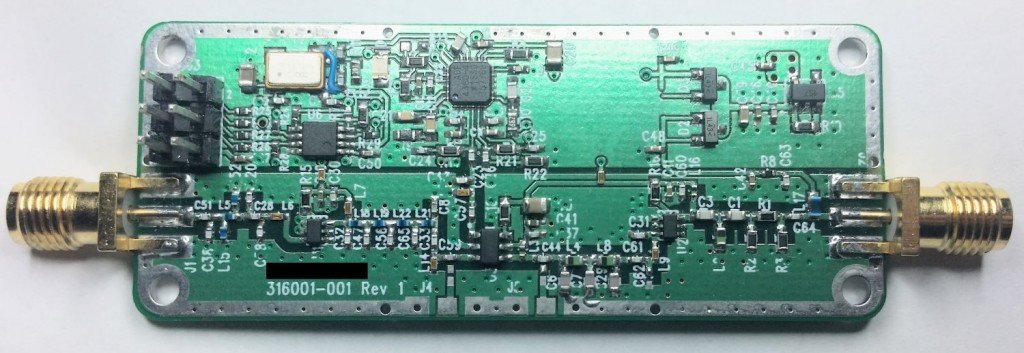 The Outernet downconverter circuit board.