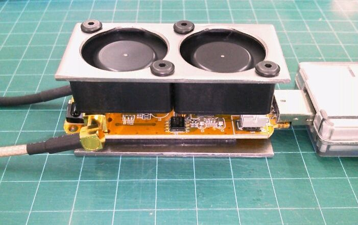 An fan cooled RTL-SDR dongle.