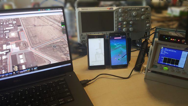 "The ""Pokemon Go"" GPS spoofing set up."