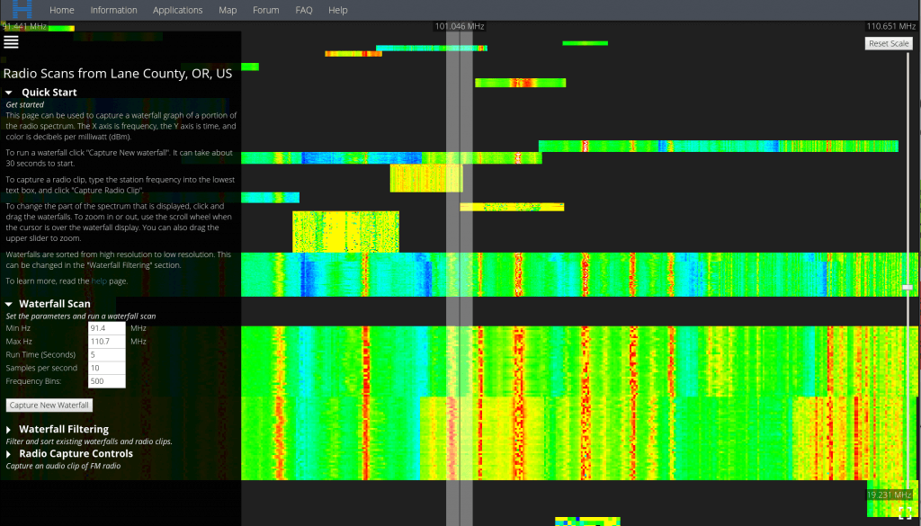 Remote Radio Scan with IBM Horizon and an RTL-SDR.