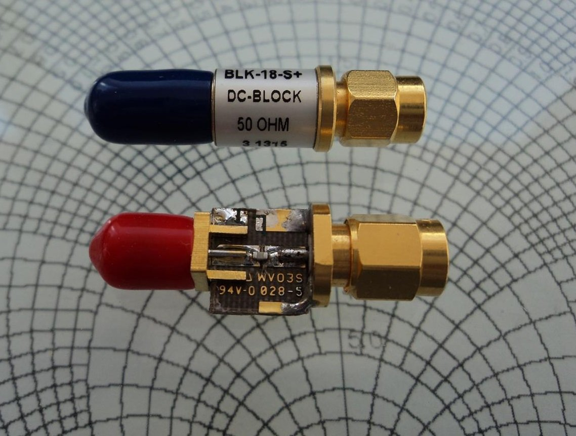 Bias Tee Antenna Power Injector Schematic A Commercial Dc Block Component Top Vs Adams Home Made